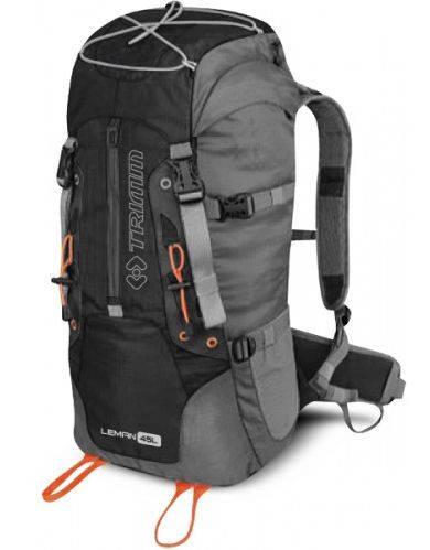 Вместительный прочный рюкзак для туризма 45 л. Trimm LEMAN black черный