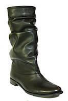 Женские кожаные сапоги, модель есть в зимнем и демисезонном варианте