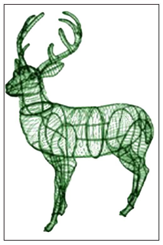 Как сделать каркас и оленей