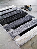 Коврик для ванной 60х100 Confetti Elite Selinus Anthracite серый в полоску