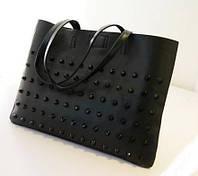 Стильная Модная женская сумка,черная, повседневная