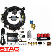 Комплект 4ц. STAG- 4 QBOX BASIC, ред. Alaska 140 л.с., форс. Valtek тип 30