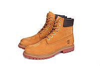 Ботинки мужские Timberland 6 inch Yellow Lite Edition (тимберленд, оригинал) коричневые