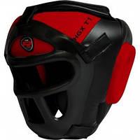 Боксерский шлем тренировочный RDX Guard. Доставка бесплатно! Красный