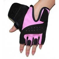 Перчатки для фитнеса женские RDX Pink. Доставка бесплатно! Розовый