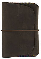 Кожаная обложка для документов на резиновой застежке Black Brier ОП-8-33 коричневый