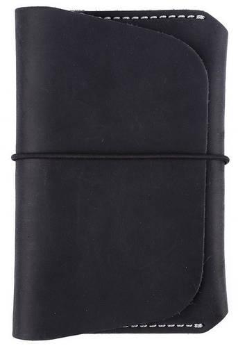 Кожаная удобная обложка для документов на резиновой застежке Black Brier ОП-8-35 черный