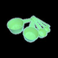 Набор мерных ложек ( 5 совков ) — 100ml, 50ml, 15ml, 5ml, 1ml (цвет зеленый)