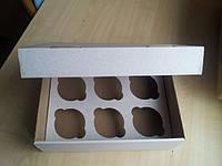 Коробка для маффинов 6шт.25х18х8 (код 01735)