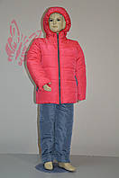 Подростковый зимний костюм на девочку № 9506 (рост 116,122,128)
