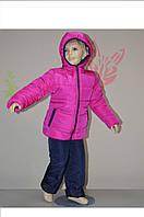 Детский зимний костюм на девочку № 9104 (рост 98,104,110)