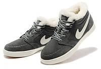 Зимние кроссовки Nike Blazer Mid серые