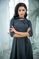 Длинное однотонное платье ворот стойка трикотажное размеры 42-44 44-46 46-48 48-50
