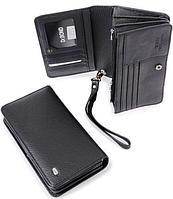 Кожаный клатч портмоне dr. Bond-black M29