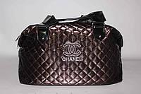 Стеганая женская сумка Chanel, коричневая