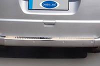 Накладка на задний бампер Mercedes Vito 639 (мерседес вито 639), OmsaLine нерж.