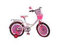 Детский велосипед 18 дюймов мульт. Candy Profi PC1853G, бело-розовый