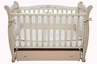 Детская кроватка Соня ЛД15 Маятник+шухляда Верес (патина, дуб молочный)