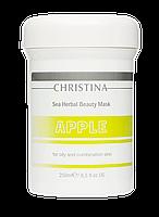 Яблочная маска красоты для жирной и комбинированной кожи Sea Herbal Beauty Mask Green Apple, 250мл