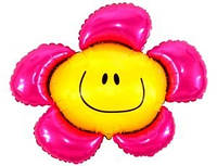 Большой шар-фигура смайл-цветок,4 цвета, надутый гелием.