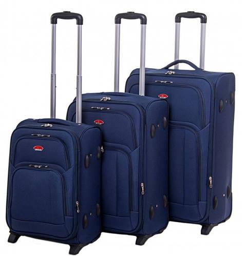 Набор чемоданов 2-колесных 3 шт. Suitcase синий 913751