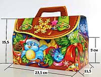 Новогодняя Упаковка для конфет Саквояж Снігурка 1000 - 1300г