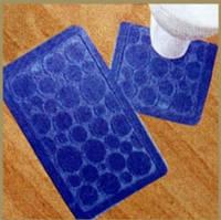 Набор Ковриков для ванной и туалета на резиновой основе 55*85 см,разные цвета