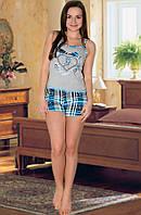 """Красивый голубой домашний комплект """"Fashion"""", халат и пижама"""