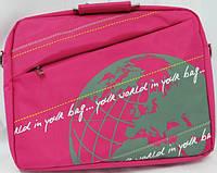 """Сумка для ноутбука 14""""с металлическими ручками Wallaby Арт: JK1-06 розовый; черный; серый"""