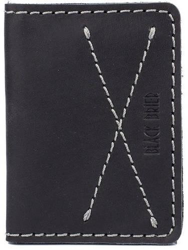 Кожаная оригинальная обложка для водительских документов Black Brier ОП-9-35 черный