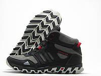Кроссовки мужские Adidas ClimaCool зимние, серые с черным