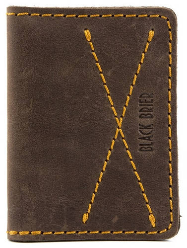 Компактная обложка для водительских документов из натуральной кожи Black Brier ОП-10-33 коричневый