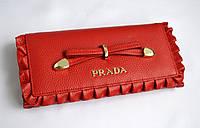 Кошелек красный кожаный  PRADA