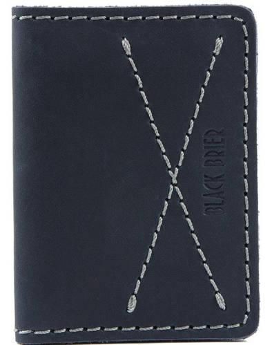 Мужская обложка для водительских документов из натуральной кожи Black Brier ОП-10-97 темно-синий