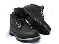 Ботинки мужские качественные в стиле Timberland черные