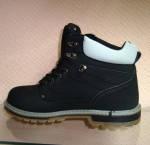 Зимние ботинки черно-серые