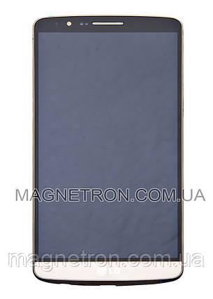 Дисплей с тачскрином и передним корпусом для телефона LG D855 G3 ACQ87190303, фото 2