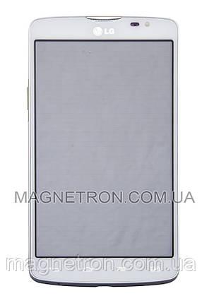 Дисплей с тачскрином и передним корпусом для телефона LG D385 L80, фото 2