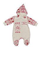 """Велюровый комбинезон для новорожденного, """"Bear"""" ТМ Фламинго"""