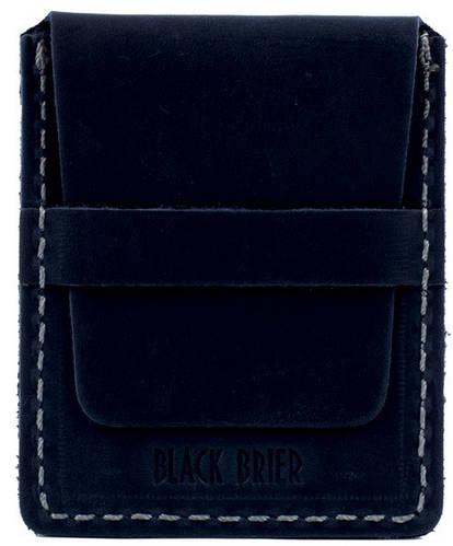 Кожаный прочный картхолдер Black Brier П-4-97 темно-синий