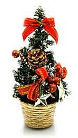 Новогодняя елка Красные украшения 20 см.