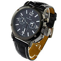 Мужские часы V6 черные с белым