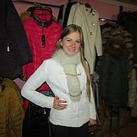 Курточка белая с мехом кролика