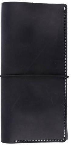 Дорожный вместительный кожаный органайзер на резинке в стиле western Black Brier TK-1-35 черный