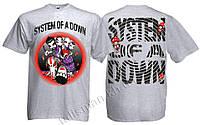 SYSTEM OF A DOWN - меланжевая - рок-футболка (фирм.)