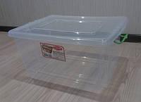 Контейнер 32 л для хранения вещей с зажимной крышкой