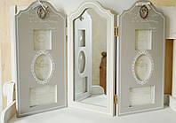 Фотоколлаж тройной с зеркалом