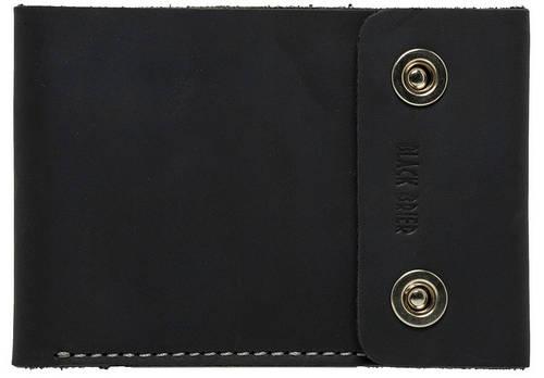 Дорожное надежное кожаное портмоне на кнопках Black Brier ТК-2-35 черный