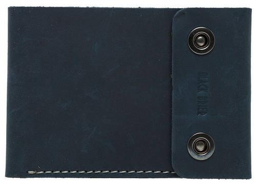 Дорожное удобное кожаное портмоне на кнопках Black Brier ТК-2-97 темно-синий