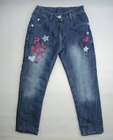 Теплые джинсы на флисе для девочки ( 5-8 ) лет